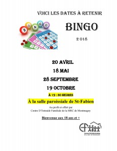 bingo 2018