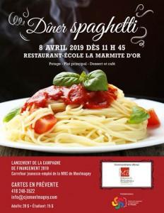 dîner spaghetti