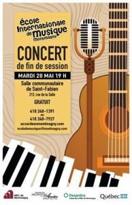 concert fin session ecole musique