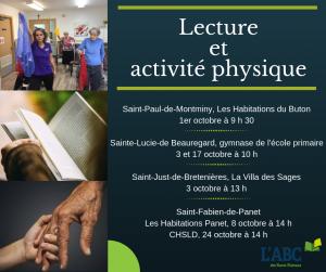 Lecture et activité physique octobre M-S